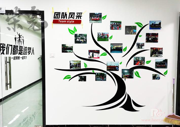 长沙企业文化墙设计 团队风采-照片墙制作