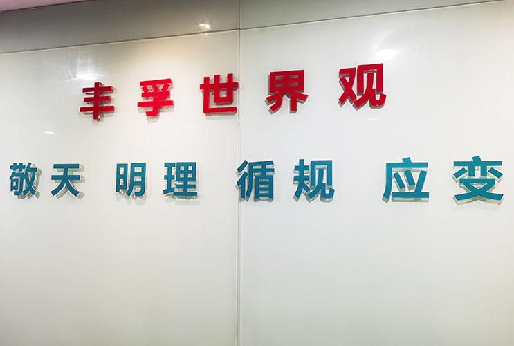 长沙文化墙水晶字标语 企业文化制作